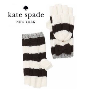 ♠️ Kate Spade Stripe Convertible Gloves | Mittens